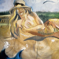 Painting of a Woman Wearing a Hat